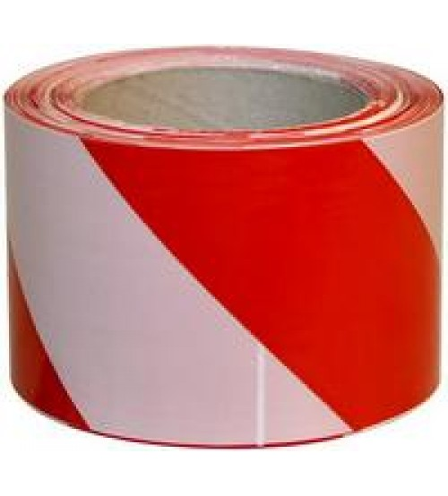 Лента оградительная бело-красная 50мм х 200м