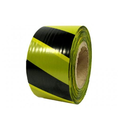 Лента оградительная желто-черная 50мм х 150м