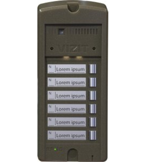 БВД-306FCP-6 Блок вызова домофона