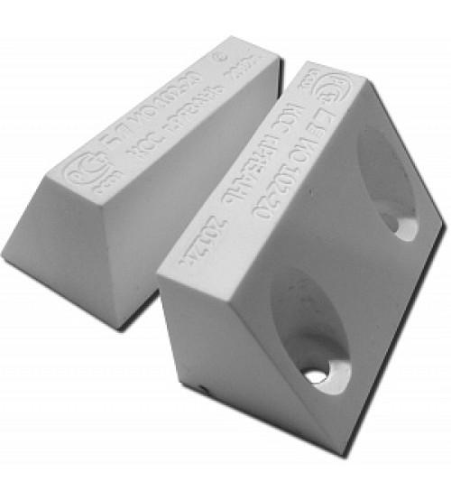 ИО 102-20 Б2П (2) белый (для пластиковых дверей) Извещатель охранный точечный магнитоконтактный, кабель в пластмассовом рукаве