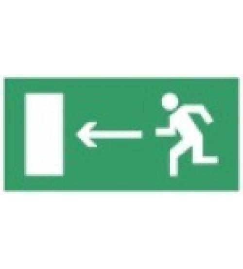"""Сфера (12В) """"Направление к эвакуационному выходу налево"""" (плоское) Оповещатель охранно-пожарный световой (табло)"""