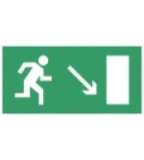 """Сфера (220В)  """"Направление к эвакуационному выходу направо вниз""""  (плоское) Оповещатель охранно-пожарный световой (табло)"""