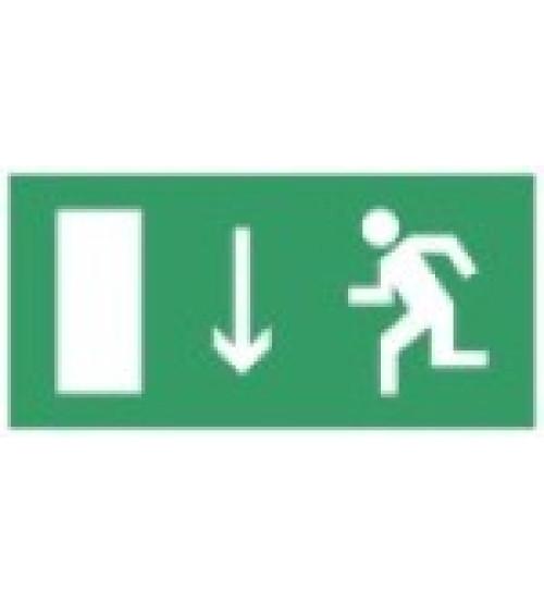 """Сфера (12В) """"Указатель двери эвакуационного выхода (левосторонний)"""" (плоское) Оповещатель охранно-пожарный световой (табло)"""