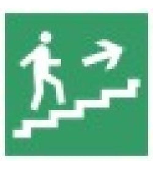 """Сфера (12В) """"Направление к эвакуационному выходу по лестнице вверх"""" (плоское) Оповещатель охранно-пожарный световой (табло)"""