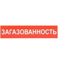 """Сфера (24В) """"ЗАГАЗОВАННОСТЬ"""" (плоское) Оповещатель охранно-пожарный световой (табло)"""
